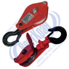 Блок монтажный ZK1-1,0 (HQGK1-1) с крюком и откидной щекой (г/п 1 тонна)