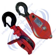 Блок монтажный ZK1-2,0 (HQGK1-2) с крюком и откидной щекой (г/п 2 тонны)