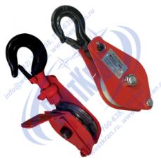 Блок монтажный ZK1-10,0 (HQGK1-10) с крюком и откидной щекой (г/п 10 тонн)