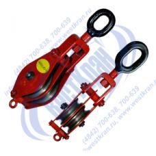 Блок монтажный двухрольный ZK2-10,0 (HQLK2-10) с ушком (г/п 10 тонн)