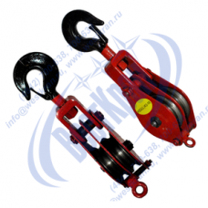 Блок монтажный двухрольный с крюком ZK2-10 (HQGK2-10)