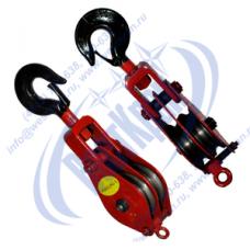Блок монтажный двухрольный ZK2-2,0 (HQGK2-2) с крюком (г/п 2 тонны)