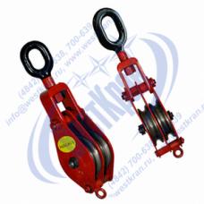 Блок монтажный двухрольный ZK2-5,0 (HQLK2-5) с ушком (г/п 5 тонн)