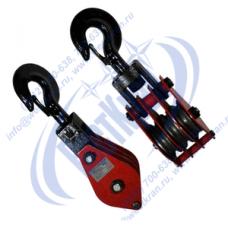 Блок монтажный трехрольный ZK3-10,0 (HQGK3-10) с крюком (г/п 10 тонн)