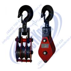 Блок монтажный трехрольный ZK3-20,0 (HQGK3-20) с крюком (г/п 20 тонн)