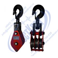 Блок монтажный трехрольный ZK3-3,2 (HQGK3-3,2) с крюком (г/п 3,2 тонны)