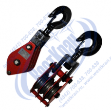 Блок монтажный трехрольный с крюком ZK3-50 (HQGK3-50)