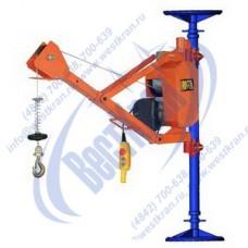 Кран строительный HGS-G200Y-30 220В (0,2т, Вп=30м) (с распорной стойкой)