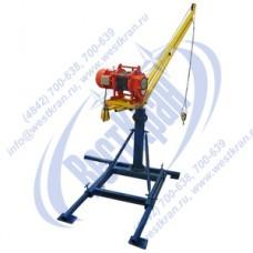 Кран стреловой поворотный ручной ККР-0,5-1,3-3,2-60 с электрической лебедкой