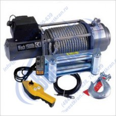 Лебедка автомобильная TOR SEC15000, 12 V, Тяг.ус.: 6804кгс., Lк=28м.