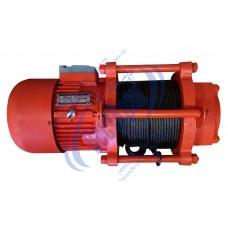 Лебедка электрическая KCD-500A 380В (0,5/1,0тс, 100/50м) (с канатом)