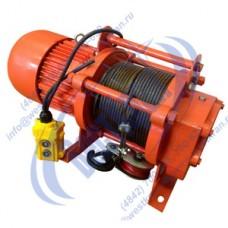 Лебедка электрическая KCD-500A 380В (0,5/1,0тс, 60/30м) (с канатом)