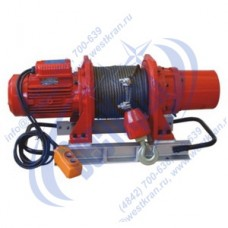 Лебедка электрическая KDJ-1000E1 380В (1,0тс, 60м) (с канатом)