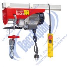 Таль электрическая стационарная РА 125/250кг 18/9м (220В)