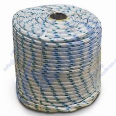 Веревка плетеная полиамидная 24-прядная 14мм, разрушающая нагрузка 3500кгс
