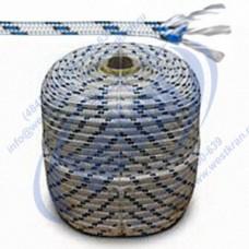 Веревка плетеная полиамидная 24-прядная 16мм, разрушающая нагрузка 4100кгс