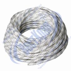 Веревка плетеная полиамидная 24-прядная 4мм, разрушающая нагрузка 400кгс