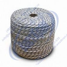 Веревка плетеная полиамидная 24-прядная 8мм, разрушающая нагрузка 1400кгс