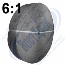 Лента полиэфирная для стропов ЛПЭС-120-14000 (6:1) серая