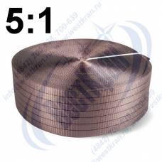 Лента полиэфирная для стропов ЛПЭС-180-18000 (5:1) коричневая