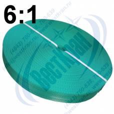 Лента полиэфирная для стропов ЛПЭС-060-7500 (6:1) зеленая