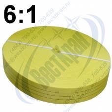 Лента полиэфирная для стропов ЛПЭС-090-10500 (6:1) желтая