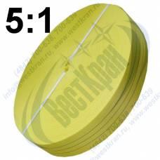 Лента полиэфирная для стропов ЛПЭС-090-9000 (5:1) желтая