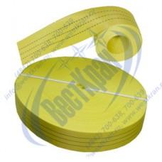 Лента полиэфирная для стропов ЛПЭС-090-14000 (7:1) желтая