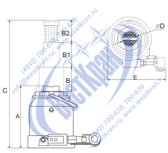 Домкрат гидравлический ДГ-10 чертеж