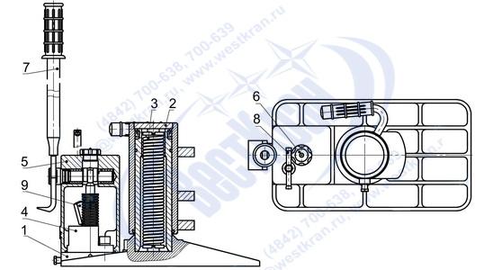 Домкрат ДПГ-10 чертеж