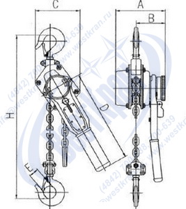 Таль HSH-0,75 чертеж