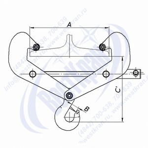 Чертеж подвески тавровой ПТН-0,5