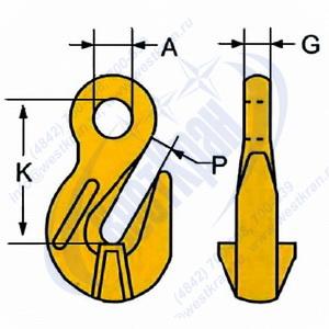Крюк укорачивающий LYK чертеж