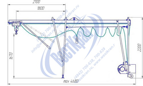 Подъемник строительный Умелец-320-75,0 чертеж