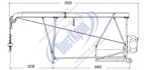 Подъемник строительный Умелец-500-50,0 чертеж