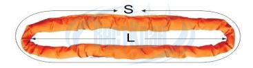 Строп круглопрядный кольцевой КСК чертеж, фото