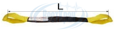 Строп круглопрядный петлевой КСП чертеж, фото