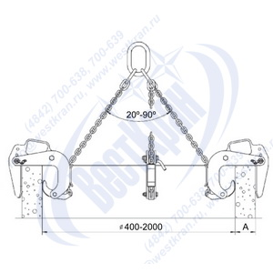 Схема КГП 02(1) для подъема бетонных колец